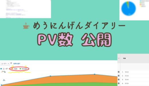 【祝】めうにんげんダイアリー、月間10000PV突破【アクセス数公開】